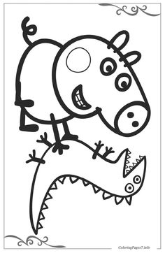 Peppa Pig Printable Coloring Pages for Kids