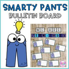 This jean themed bulletin board is unique and ADORABLE. Let your students know how SMART they are!! They will love writing all the things they know! Some options you can use with this product:You can put the students names on each cardStudents can write about what they learnedStudents can write abou... Vintage Classroom Decor, Classroom Decor Themes, Back To School Organization, Classroom Organization, Teaching Materials, Teaching Ideas, Teacher Resources, Classroom Resources, School Items