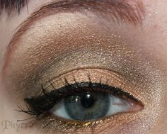 BftE Salted Caramel, Fyrinnae Shenanigans, Fyrinnae Book of the Dead. Click Through to see the rest! Gold Eye Makeup, Skin Makeup, Beauty Makeup, Hair Beauty, Metallic Eyeshadow, Eyeshadow Looks, Beauty Advice, Beauty Hacks, Redhead Makeup