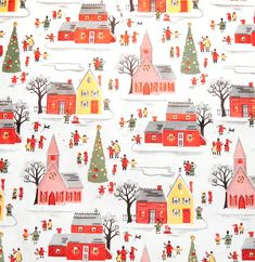 Vintage Christmas wrap... would love to see this as fabric, or something similar