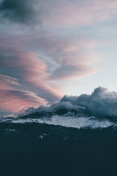 lvndscpe: Cloudy mountains | by Katie Moum