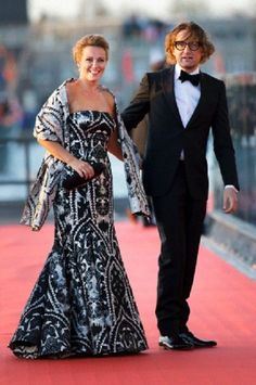 Dutch Prince Bernhard and Princess Annette arrive at the Muziekgebouw Aan't IJ after the King's Sail in Amsterdam
