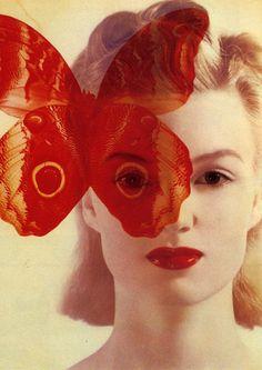 the monarch program, one eye covered, marilyn symbolism, mk-ultra, cover of Harper's Bazaar, 1940.
