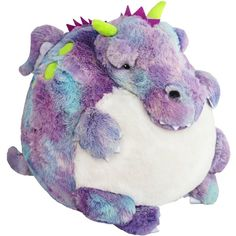 It's time to launch... the Prism Dragon!! No village-pillaging or princess-terrorizing here, just good vibes and pretty colors! Yeah man! #squishable #plush #tiedye #dragon
