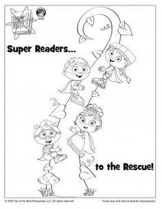 sprout character coloring pages | Super why on Pinterest | Super Why, Super Why Birthday and ...