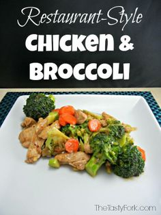 Restaurant Style Chicken and Broccoli on thetastyfork.com. Healthy recipe make over at home!