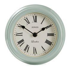Jones Frankie Roman Numeral Duck Egg Blue Clock | B&Q                                                                                                                                                      More