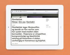 Mobile website for Norwegian, location-focused filmmakers Filmfaktisk designed by Heydays.