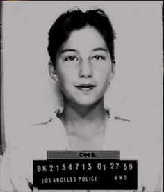 """A 13-year-old Cher in a mug shot    Apparently Cher was arrested when she was just 13 years old for """"borrowing"""" her mom's car."""