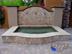 12 Quot Raised Spa Travertine Coping With A Stacked
