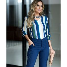 BLUSA DANNY Office Outfits, Chic Outfits, Couture Dresses, Fashion Dresses, Latest Outfits, Work Wardrobe, Bollywood Fashion, My Outfit, Casual Looks