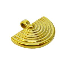Theatro,a solid gold plated sterling silver pendant inspired by the form of Ancient Greek theaters.  A beautiful handmade pendant inspired by one of the most powerful forms in Ancient Greek culture,the Theater.In an effort to channel the energy that this unique form radiates outward this pendant is wax carved and polished by hand. A classy statement contemporary jewel you can easy match with almost everything comes with a long black cotton cord. Ideal for a gift to that special someone or…