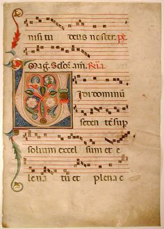 Remains of a Medieval Antiphonal - Folio 10 Recto