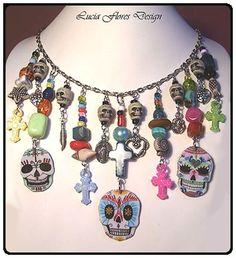 Mexican Day of the Dead Dia de los Muertos by LuciaFloresDesign, €39.00