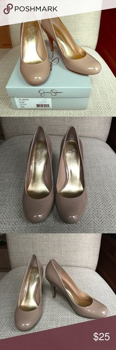 """NIB Nude Patent pumps New in box nude patent round toe pumps.  Heel is 4"""" high.   I had a shoe theme bridal shower so I received a lot of shoes new and some only worn a couple of times so check out my other listings. Jessica Simpson Shoes Heels"""