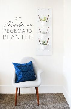 Modern Pegboard Planter :: Monthly DIY Challenge - brepurposed