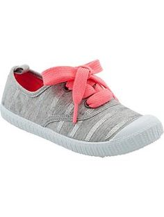 Girls Lace-Up Jersey Sneakers | Old Navy