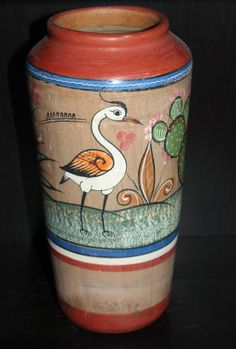 Vintage Painted Mexican Pottery / Tonala / by AntiqueAlchemyShop, $25.00