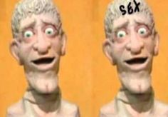 And finally there's our buddy Head from Art Attack! He always seemed creepy, and now I understand why: 20 Hidden Messages In Cartoons That Probably Made You The Messed-Up Person You Are Today Disney Junior, Disney Xd, Disney Films, Disney Cartoons, Disney Hidden Messages, Disney Subliminal Messages, Cartoon Network, Conspiracy Theories Mind Blown, Spongebob Pics