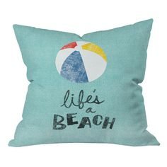 I pinned this Nick Nelson Life's a Beach Pillow from the DENY Designs event at Joss and Main!