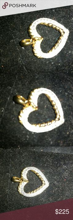 Authentic Diamond & Gold  Heart Pendant PERFECT In great condition and a steal! .75 carat & 18 K Gold Kay Jewelers Jewelry Necklaces