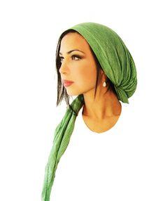 Tichel Hair Snood Head Scarf Pre Tied Bandana by ShariRoseShop, $21.99