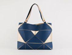 Fold it Shopper blau/ zartgold von larakazis auf Etsy, $485.00