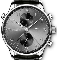 Three New IWC Portugieser Chronograph Rattrapante Watches Honor Cities Of Milan, Paris, & Munich Watch Releases Iwc Watches, Cool Watches, Black Watches, Wrist Watches, Men's Accessories, Der Gentleman, Luxury Watches For Men, Beautiful Watches, Moda Masculina