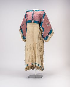 Lakota Sioux, Ceremonial robe, late 19th century, Pomona College Collection  I love the pink