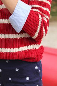 Sailors wheels, red stripes, blue oxford, preppy lake outfit, preppy outfit, red white and blue outfit,   www.dailydoseofprep.com