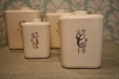 Vintage Canisters  Set of 4 by TheAstorRoom on #Etsy
