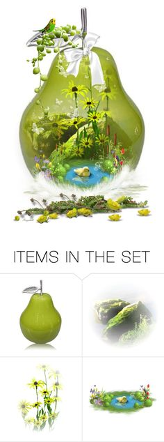 """🍐 Think Spring"" by ragnh-mjos ❤ liked on Polyvore featuring art, flower and pear"