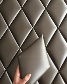 MDF base, polyurethane foam or rubber foam, covered like upholstered furniture. attach with Velcro to the wall - Salvabrani - Salvabrani Bed Headboard Design, Bed Frame And Headboard, Bedroom Bed Design, Headboards For Beds, Home Decor Bedroom, Modern Luxury Bedroom, Luxurious Bedrooms, Bed Back Design, Leather Wall Panels