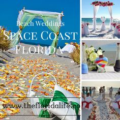 Beach Weddings, in Space Coast of Florida.  Melbourne and Cocoa Beach Florida.