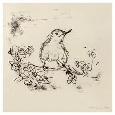 A charming drawing of our feathered friend by Tracey Emin CBE RA