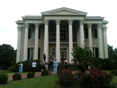 Rattle and Snap Plantation, Columbia, TN. The 10 Corinthian columns speak to the wealth of George and Sally Polk who built the plantation in the 1840s. Photo by Betty Bolte 2013