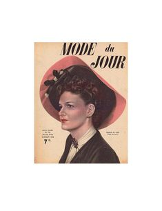 French Mode du Jour magazine in French - July 8 1948 Instant Download PDF 11 pages 1940s, Trending Outfits, Pdf, Magazine, French, Movie Posters, Handmade, Etsy, Vintage