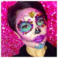 Sugar Skull Halloween Makeup by me, Jaimie Place, at BB Makeup Cosmetic Bar!
