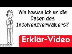 Insolvenzverwalter - wie komme ich an den Namen und Adresse? - YouTube