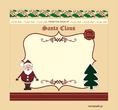 Santa΄s letter-empty template by eimaipaidi.gr