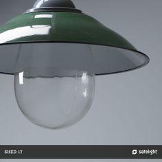 perlin pendant lighting collection shed 17 green enamel vintage