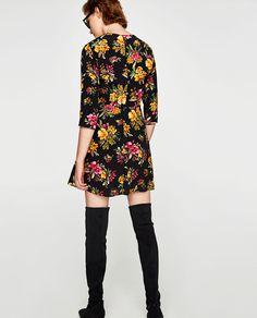 Fl Print Mini Dress