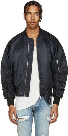 Fear of God - Black Nylon Bomber Jacket