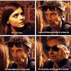 Discovered by Find images and videos about doctor who, jenna coleman and clara oswald on We Heart It - the app to get lost in what you love. Doctor Who 12, Doctor Who Funny, 12th Doctor, Twelfth Doctor, Doctor Who Quotes, Peter Capaldi Doctor Who, Geeks, Clara Oswald, Don't Blink