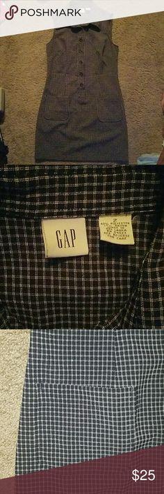 Vintage Gap dress Vintage Gap dress size 2 blue and white GAP Dresses Midi