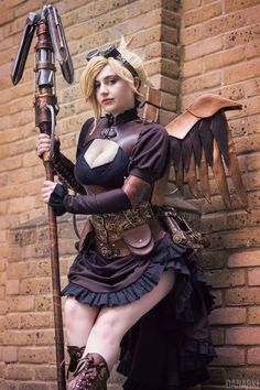 "steampunktendencies: "" Steampunk Mercy by DemoraFairy Steampunk Tendencies [ Twitter 
