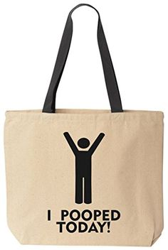 I Pooped Today! - Funny Cotton Canvas Tote Bag - Reusable by BeeGeeTees 09363 (Silo 2) BeeGeeTees http://www.amazon.com/dp/B00MD9X3HS/ref=cm_sw_r_pi_dp_7Kuzvb0DERP0G