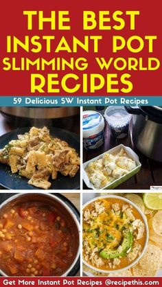 Slimming World Instant Pot Recipes. Introducing you to our go to list of all our instant pot, pressure king pro and other electric pressure cooker……. Clean Dinner Recipes, Clean Eating Dinner, Clean Eating Recipes, Cooking Recipes, Healthy Recipes, Banting Recipes, Delicious Recipes, Free Recipes, Easy Recipes