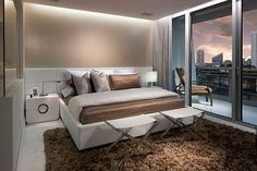 Stunning bedroom decor with recessed lighting via @decoist