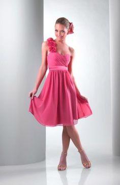 A-line One Shoulder Knee-length #Dress Style Code:05686 $89
